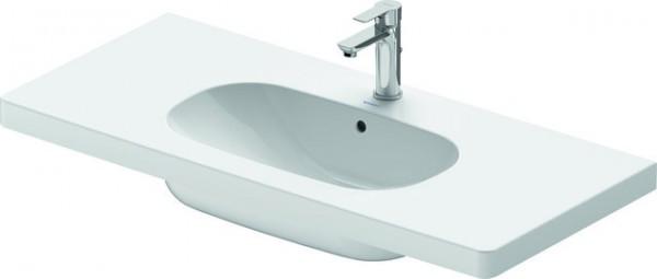 DU Möbelwaschtisch D-Code 1050 mm Weiß mit ÜL, mit HLB, 1 HL