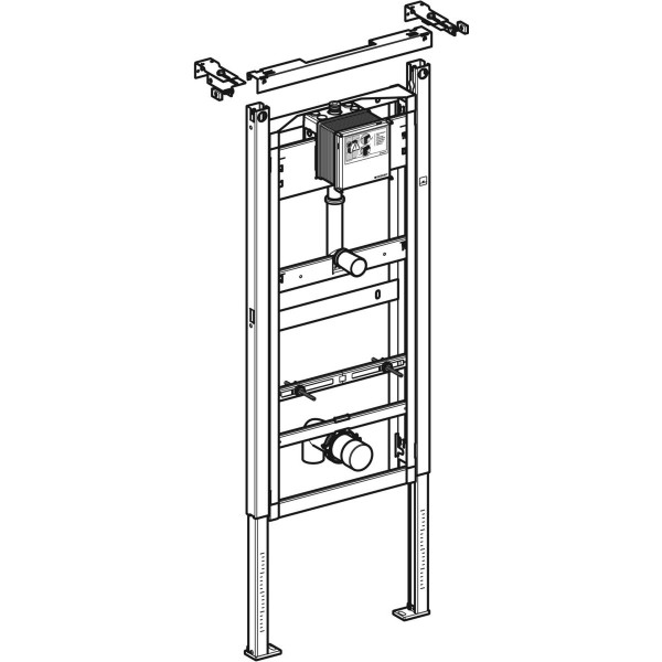 GE DuofixBasic Element für Urinal, 130cm Universal, Wandanker